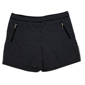 H&M women's shorts size 10 black white print